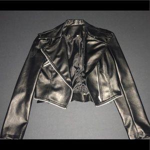 Ladies faux leather jacket size L